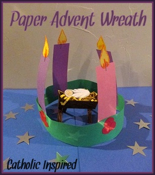 Easy Advent Wreath for Kids {St. Lucy's Day Wreath, too!} ~ Catholic ...