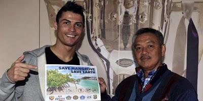 Cristiano Ronaldo mangrove ambasador, mangrove in bali