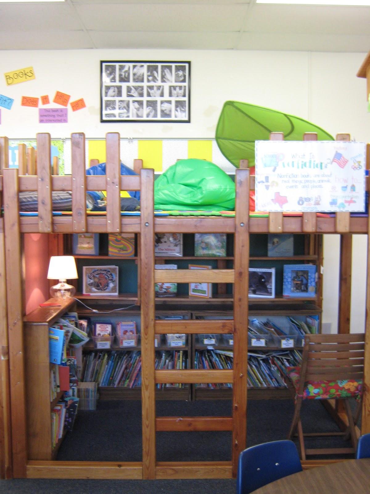 Classroom Loft Ideas ~ Elementary organization reading rodeos