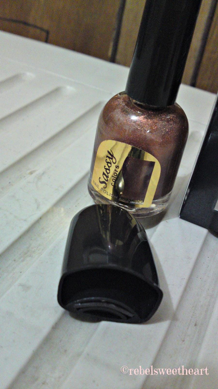 The Rebel Sweetheart.: Nailed   Sassy Colors Magnetic Nail Polish.