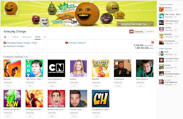 youtube one channel annoying orange