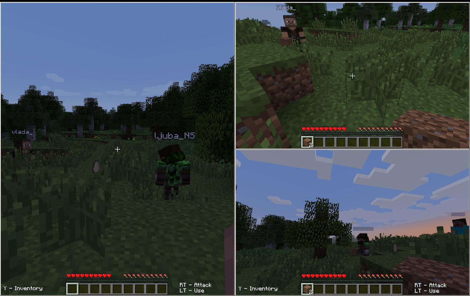 split screen minecraft pc
