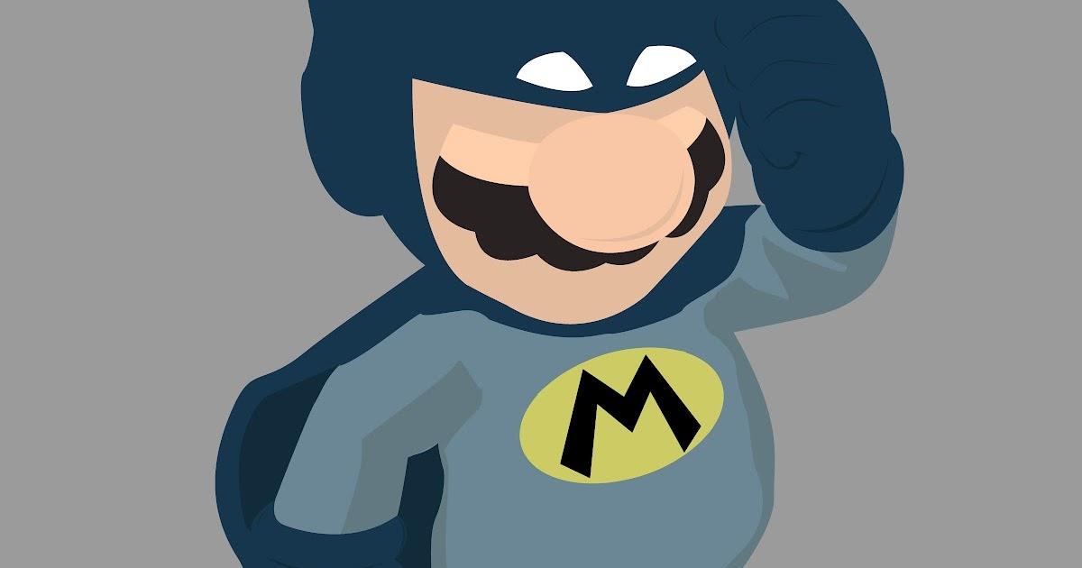 MattySimpsonDesign  Batmario  Batman Mario  t shirt design