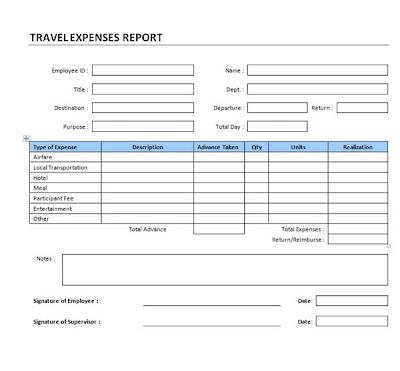 travel expense voucher template .
