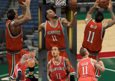 NBA 2K13 Milwaukee Bucks Alternate Jersey Fix Patch