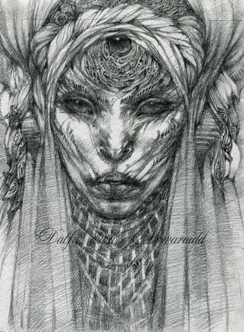 10-Cat-Witch-Olga-Anwaraidd-Drawings-Fantasy-Portraits-Imaginary-Characters-www-designstack-co