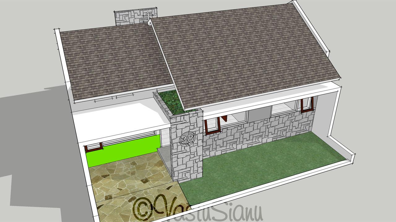vastusianu desain rumah sederhana di lahan 10x10m2