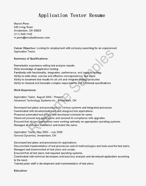 tester resume