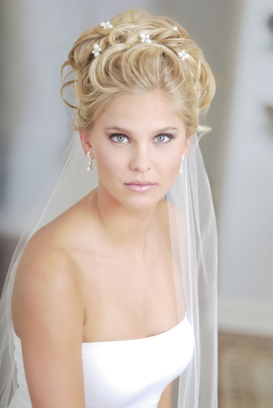 wedding hairstyles with a short veil