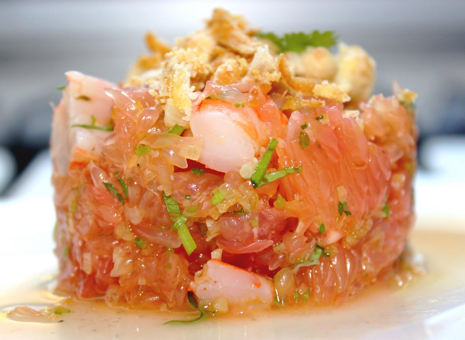Invitations aux voyages culinaires s88 salade tha e de pamplemousse crevettes - Pamplemousse amer ou acide ...