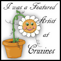 """I was a featured artist  at Cruzines"" badge"