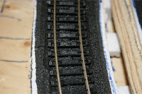 Track foam spacers