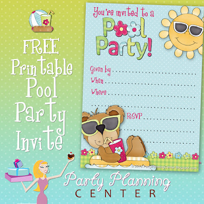 party planning center free pool party invite template. Black Bedroom Furniture Sets. Home Design Ideas