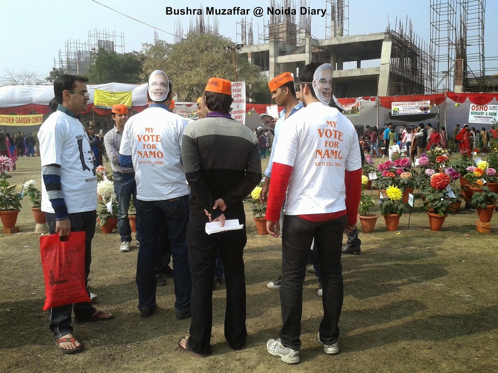 Namo Namo at Noida Flower Show 2014