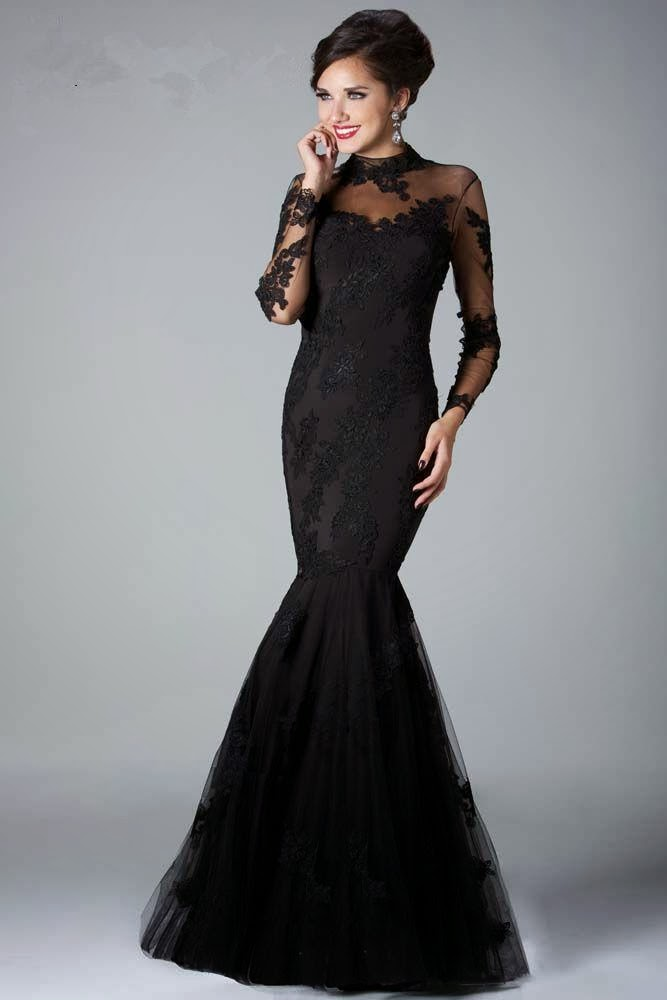 Link camp black evening and prom dress collection 2013 4 for Black mermaid wedding dresses