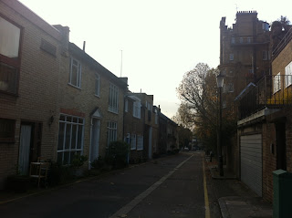Looking out from Boyne Terrace Mews, London W11