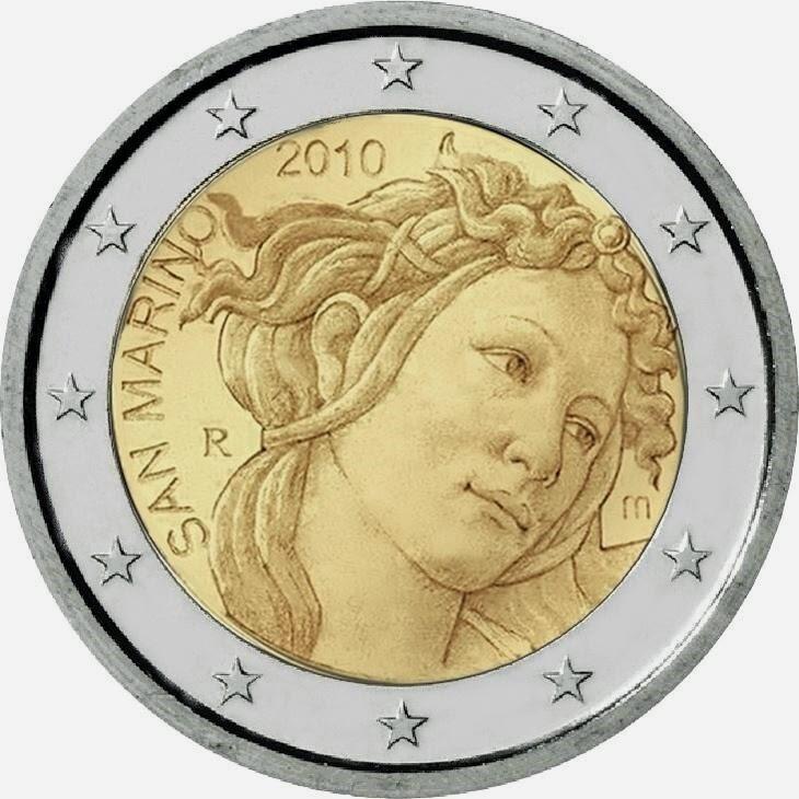 2 euro San Marino 2010 Sandro Botticelli