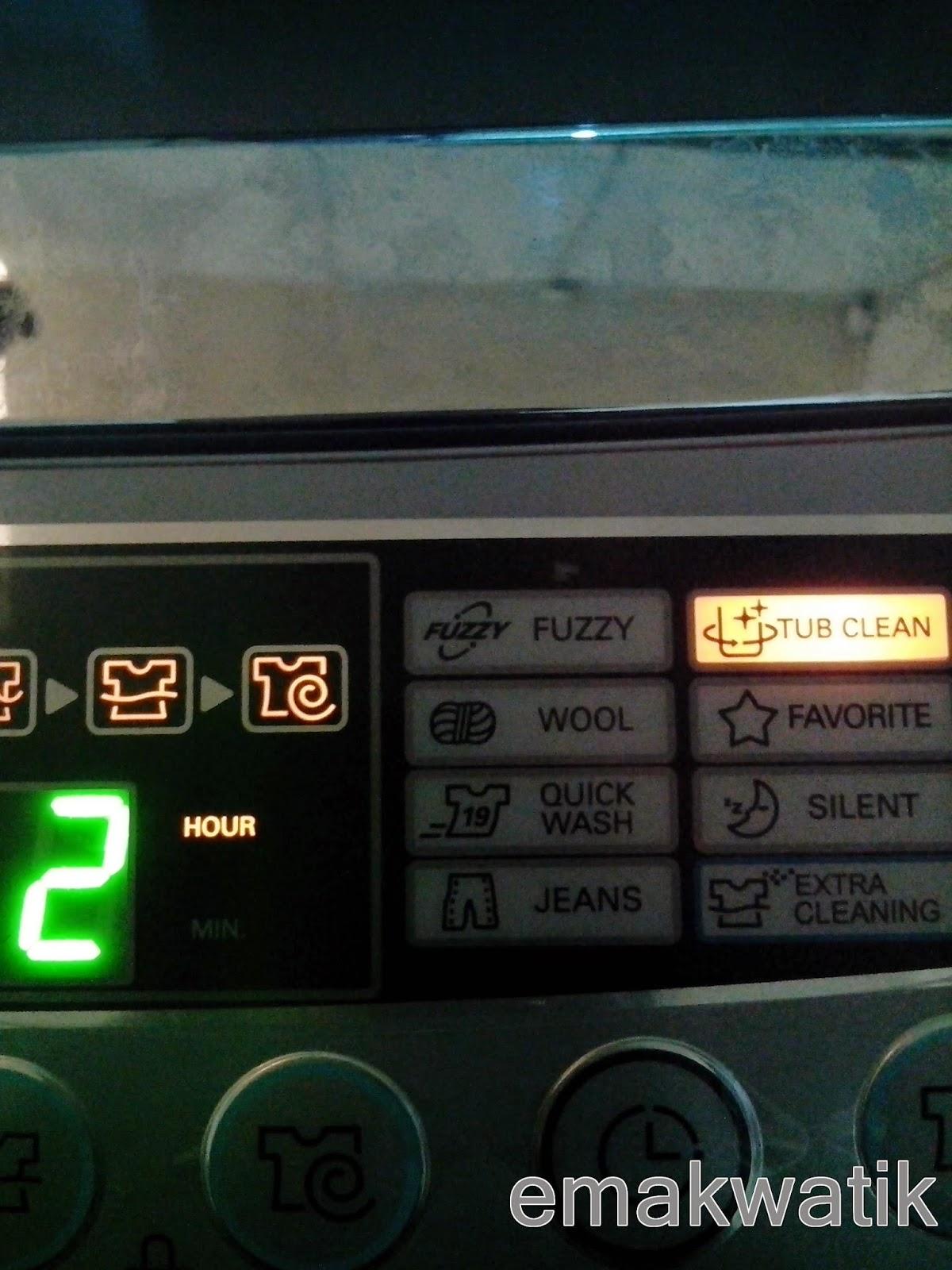 Tips Membersihkan Mesin Cuci Emakwatik Lg 1 Tabung Top Loading Wfl100tc 10kg Putih Tube Clean 2 Jam