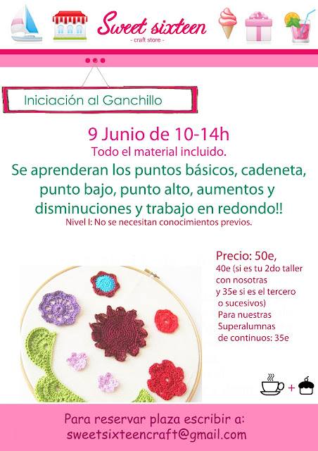 Taller iniciación al Ganchillo. Sweet sixteen, Madrid