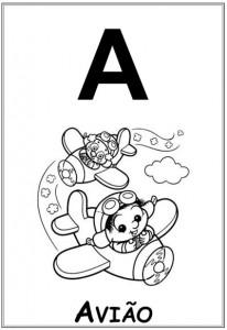 alfabeto turma da monica  baby letra a