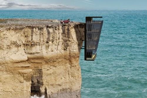 Rumah Tergantung Di Tepi Laut, rumah terunik di dunia, rumah di tepi tebing, rumah di tepi pantai, rumah di depan laut, konsep kediaman tergantung, rumah Australia