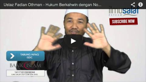 Ustaz Fadlan Othman – Hukum Berkahwin dengan Non-Muslim