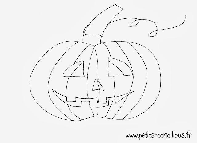 coloriage citrouille halloween à imprimer