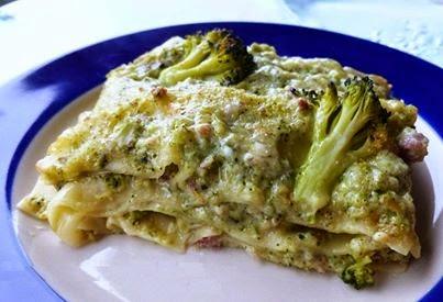 Lasagne broccoli e pancetta