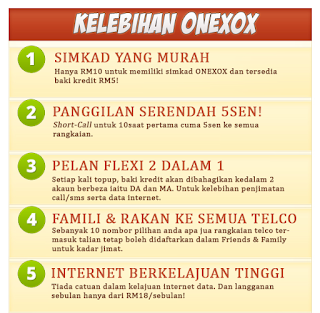 Kelebihan ONEXOX Berbanding Telco Lain