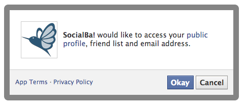 Permission Facebook SocialBa! (Publish Sync)