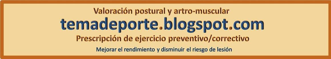 Valoración postural y artro-muscular. Prescripción de ejercicio preventivo/correctivo.