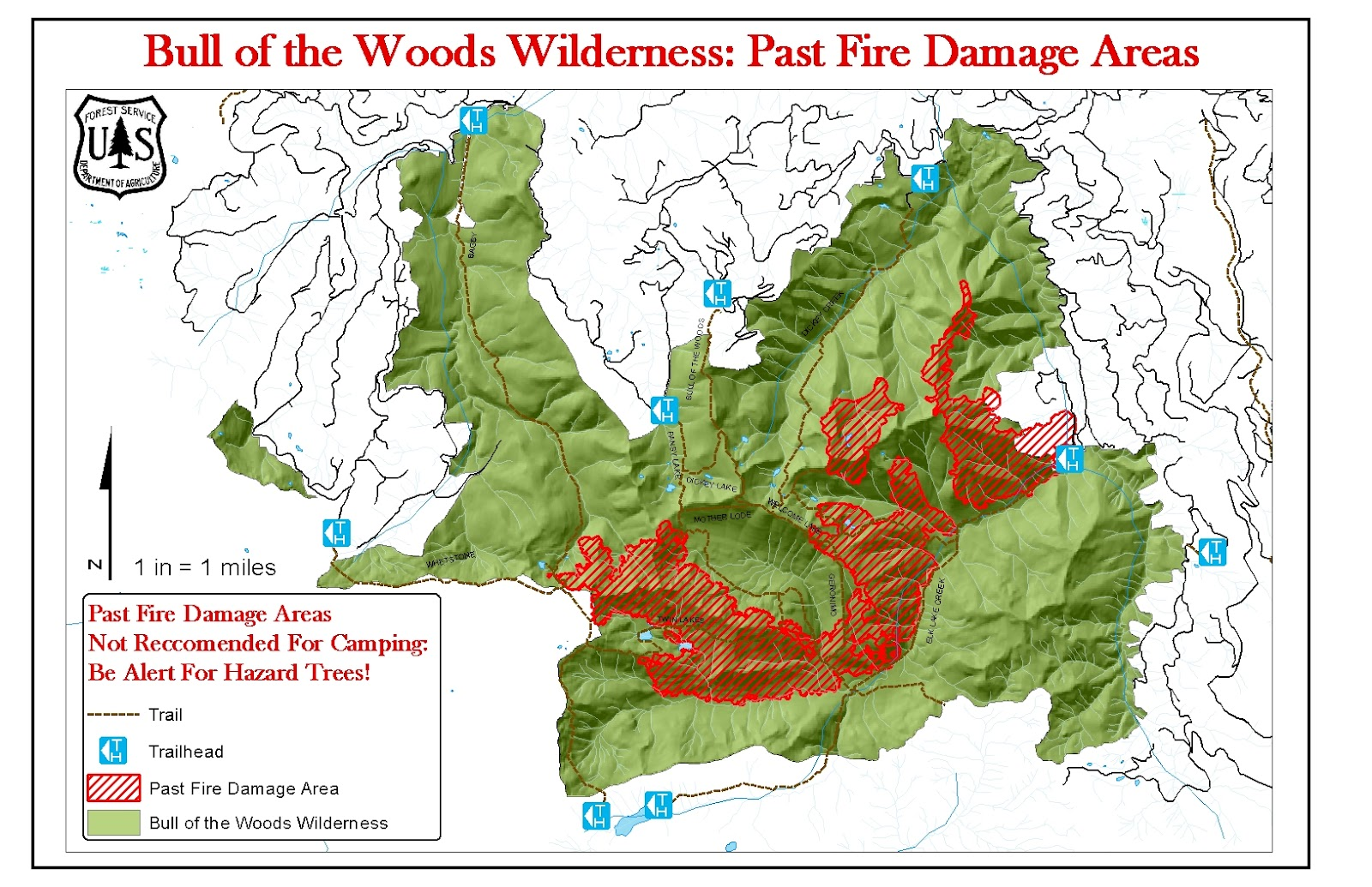 Green Cascadia Bull of the Woods Wilderness Fire Damage