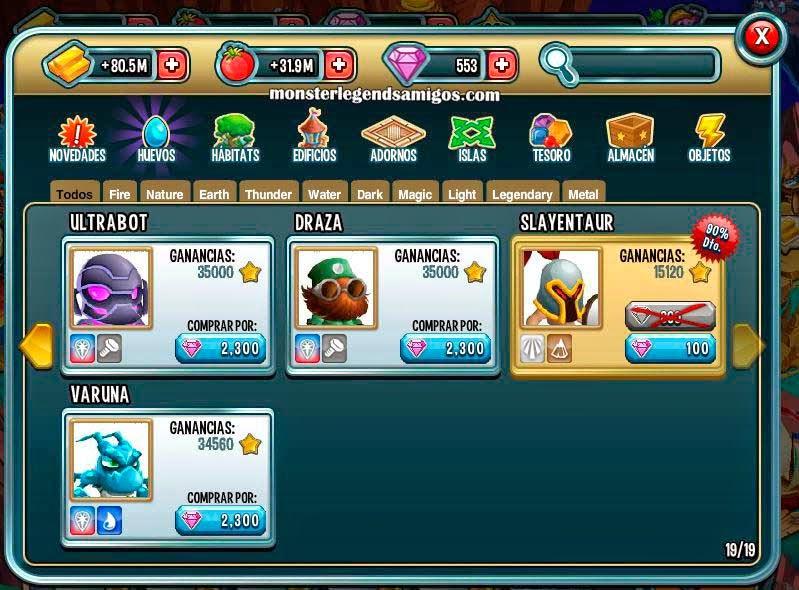 imagen del monstruo slayentaur en oferta especial