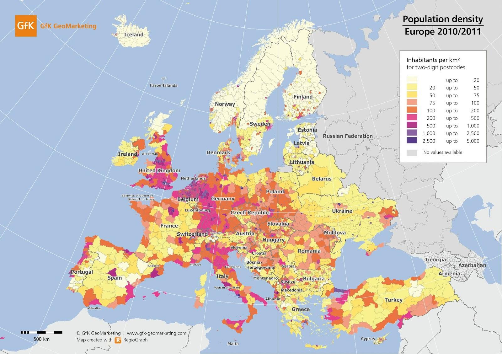 SquidHammer European Population Density