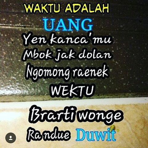 Gambar DP BBM Bahasa Jawa Lucu Gokil | Kata Kata 2017