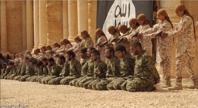 فيديو: اطفال داعش ينفذون عملية اعدام جماعية في تدمر