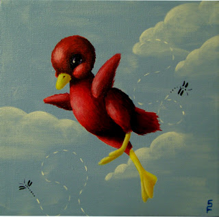 Nursery Duckie acrylic paintings