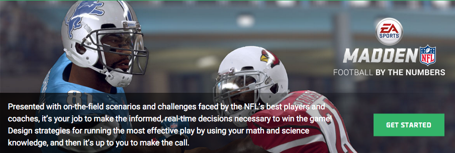 The nfl players association ea sports and discovery education have