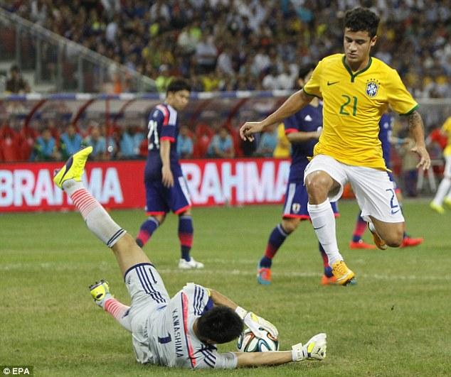 Coutinho không có tên trong đội hình Brazil