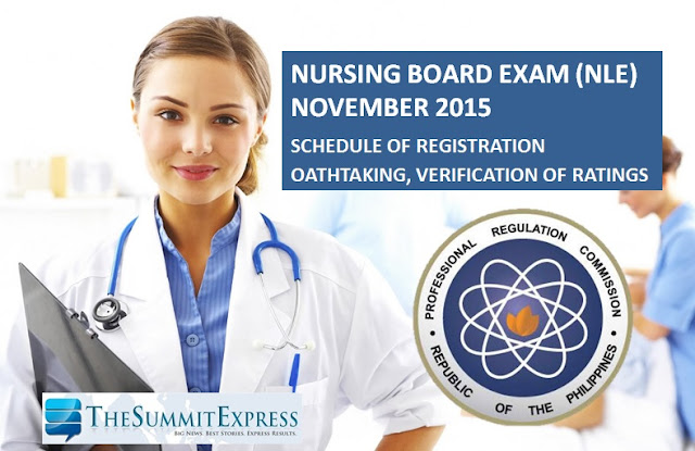 November 2015 NLE passers registration, oathtaking schedule