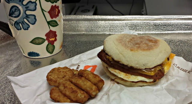 Dunkin' Donuts Chicken Apple Sausage Breakfast Sandwich (+Giveaway)