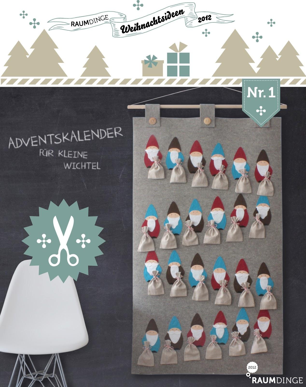 Raumdinge Adventskalender Weihnachtswichtel Mit Anleitung