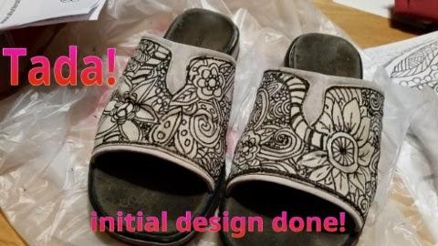 zentangled sandals 1