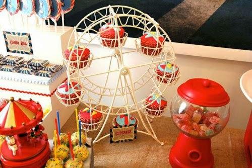 Detalles Candy Bar circo vintage
