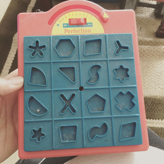 #thriftscorethursday Week 74   Instagram user: design_it_vintage shows off this Perfection Game