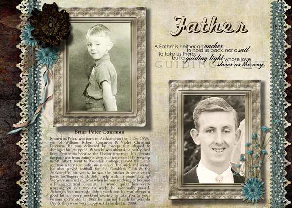 Heritage Scrapbook Page Father