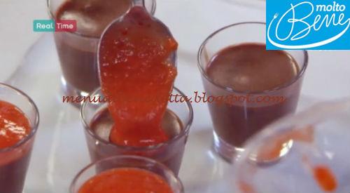 Panna cotta cioccolato e fragole ricetta Parodi per Molto Bene