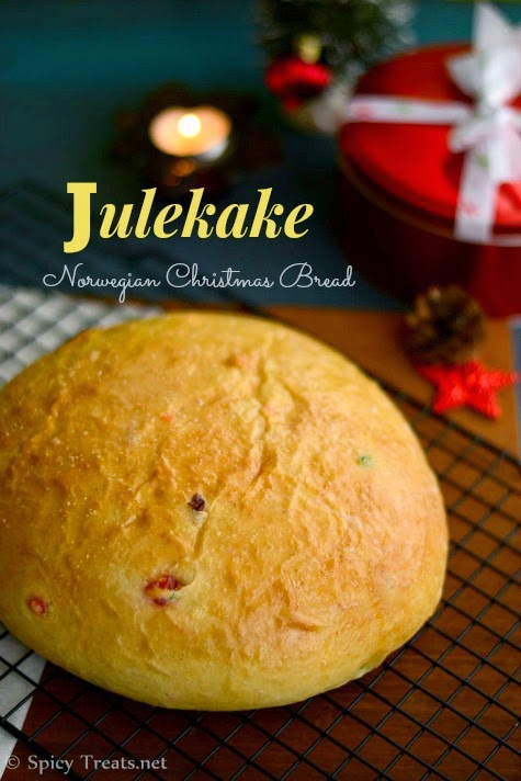 Eggless Julekake Recipe