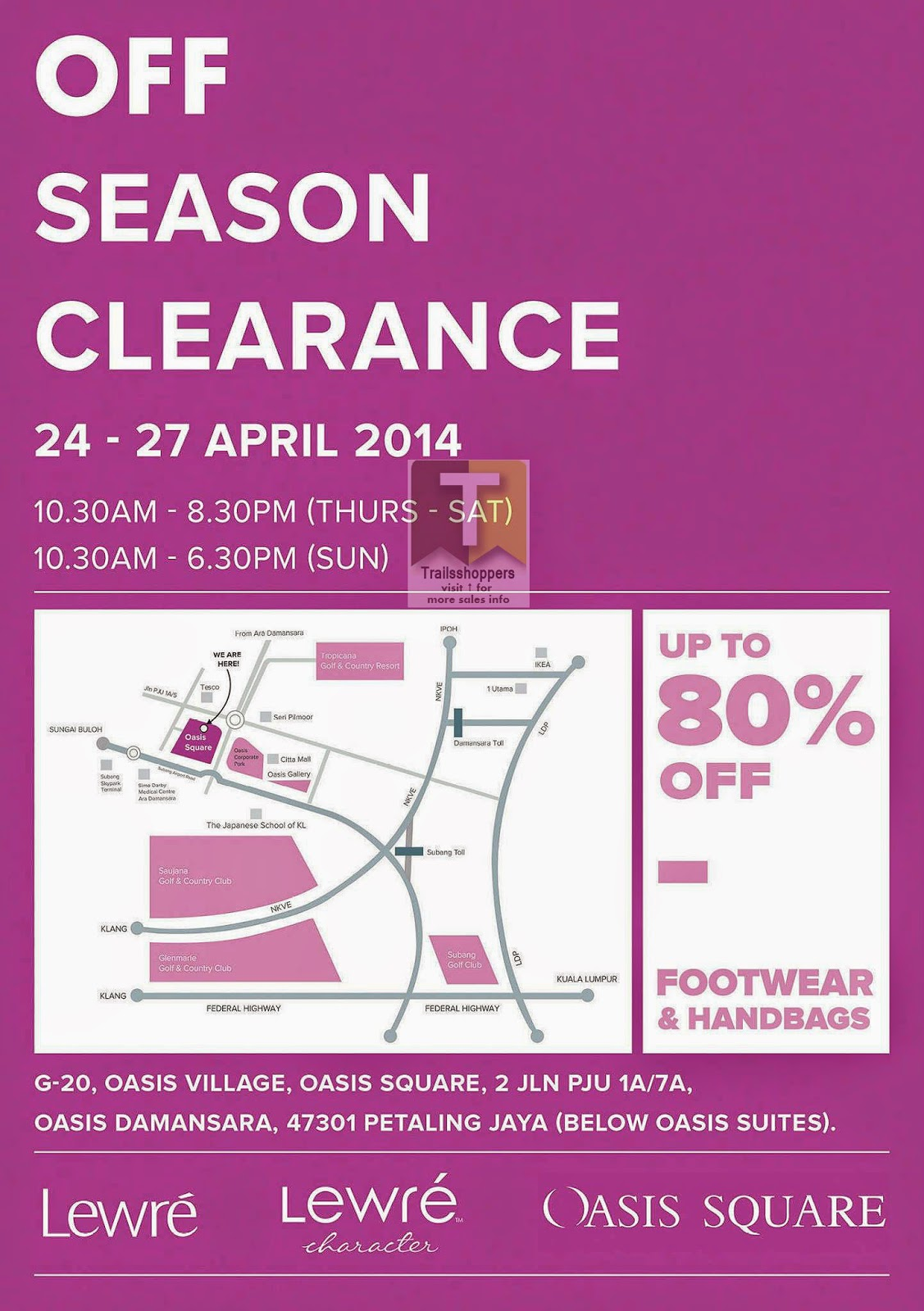 Lewre Shoes Bags Off Season Clearance Sale