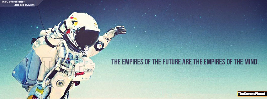 Empires The Future Redbull Space Jump Quote Facebook Cover